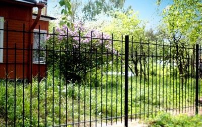 Кованый забор для коттеджной группы